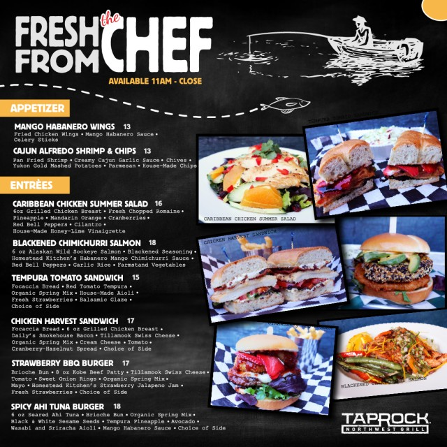New Fresh From the Chef - Riverfront Dining